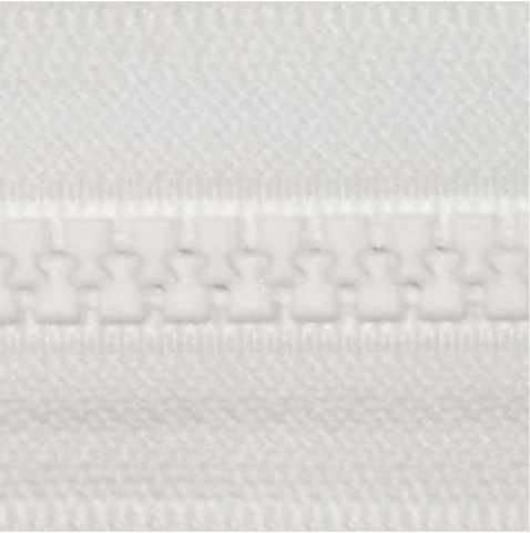 "YKK Vislon 14"" Separating Zipper, Size #5 (5mm Wide Teeth), White"