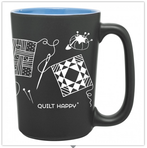 Quilting Scribbles Mug, Blue, by Quilt Happy