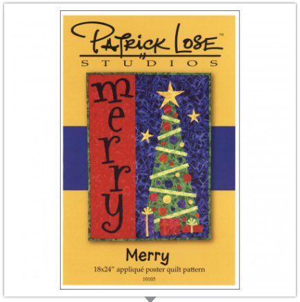 Merry Appliqué Christmas Tree Wallhanging Quilt Pattern by Patrick Lose