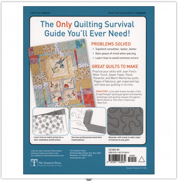 When Bad Things Happen to Good Quilters — Survival Guide for Fixing & Finishing Any Quilting Project — by Joan Ford