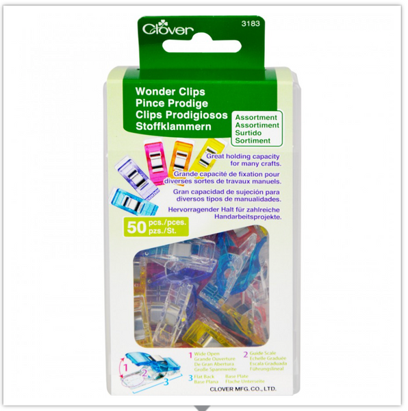 Wonder Clips, Medium, 50 Count, Assorted Colors