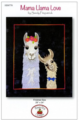 Mama Llama Love Wallhanging by Sandy Fitzpatrick