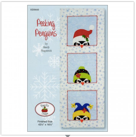 Peeking Penguins by Sandy Fitzpatrick for Hissyfitz Designs