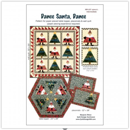 Dance Santa, Dance Pattern by Quilt Design NW