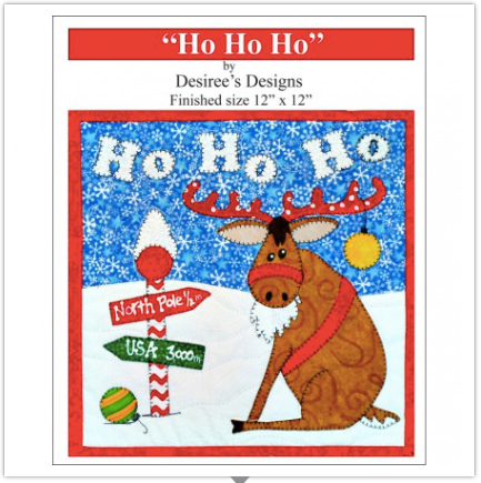 Ho Ho Ho Reindeer Quiltlet by Desiree Habicht of Desiree's Designs