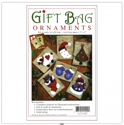 Gift Bag Ornament by Rachel Pellman for Rachel's of Greenfield