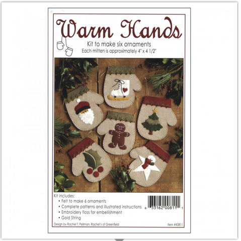 Warm Hands Ornament Kit by Rachel Pellman for Rachel's of Greenfield