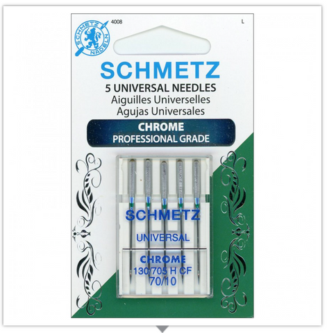 SCHMETZ® Chrome Professional Grade Sewing Machine Needles, Size 70/10, Package of 5