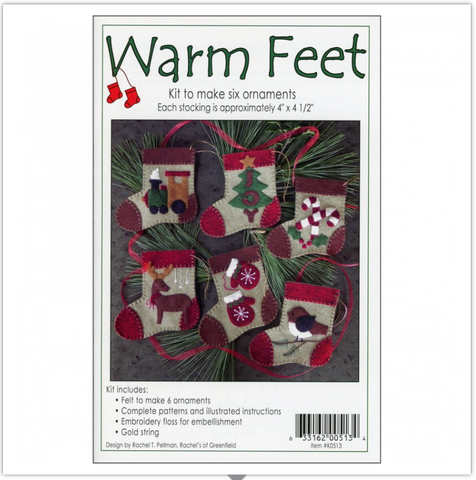 Warm Feet Ornament Kit by Rachel Pellman for Rachel's of Greenfield
