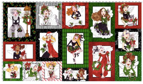 Loralie Designs — Fairy Merry Christmas Panel, By the Panel