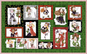 Have a Fairy Merry Christmas! Wallhanging Kit — Fabric and Pattern