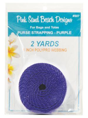 "Purse Strapping, 1"" Wide by 2 Yards Long, Pink Sand Beach Designs, Purple"