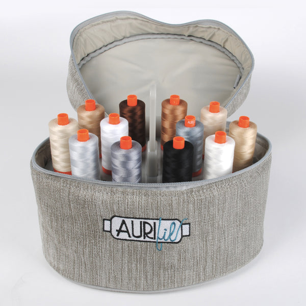 Aurifil Limited Edition Train Case with 24 Large Spools of 50wt Aurifil Thread