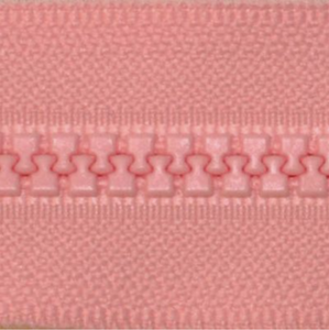 "YKK Vislon 14"" Separating Zipper, Size #5 (5mm Wide Teeth), Pink"