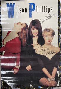 "Carnie Wilson, Wendy Wilson & Chynna Phillips Signed Autographed ""Wilson Phillips"" Large Wall Poster - COA Matching Holograms"