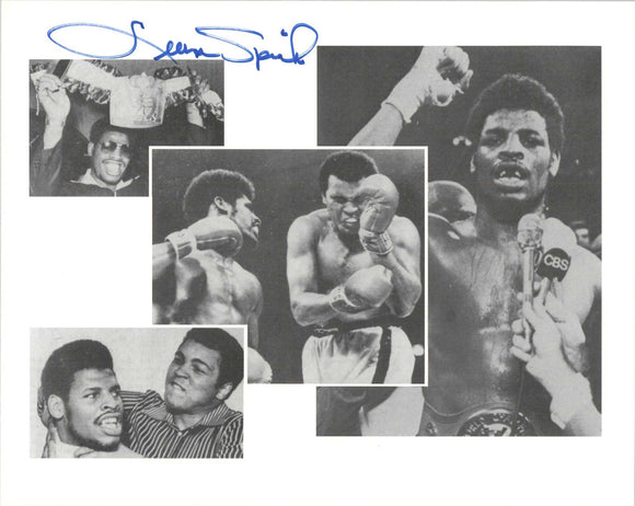 Leon Spinks Signed Autographed Glossy 8x10 Photo - COA Matching Holograms