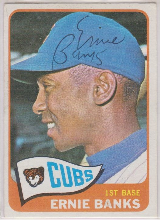 Ernie Banks (d. 2015) Signed Autographed 1965 Topps Baseball Card - Chicago Cubs