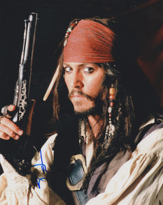 "Johnny Depp Signed Autographed ""Pirates of the Caribbean"" Glossy 8x10 Photo - COA Matching Holograms"