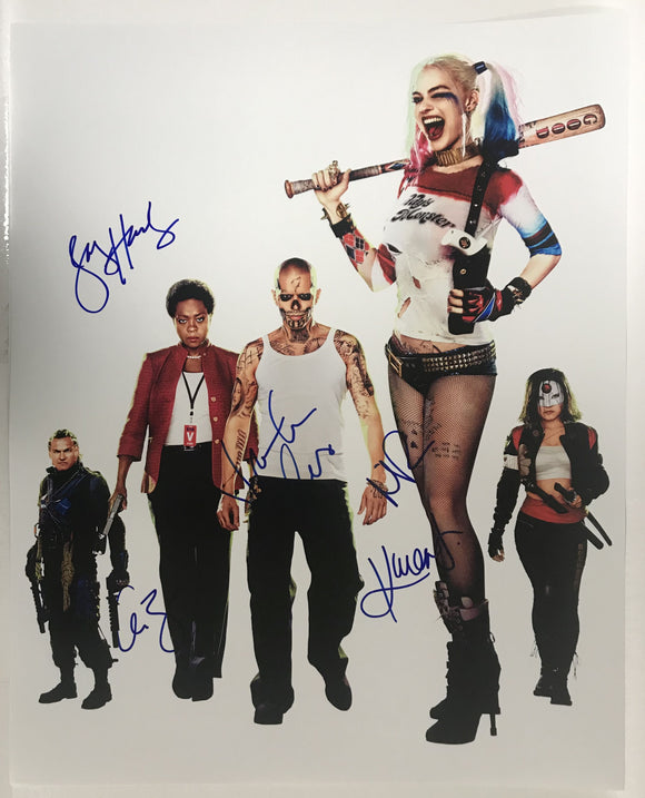 Suicide Squad Cast Signed Autographed Glossy 16x20 Photo - COA Matching Holograms