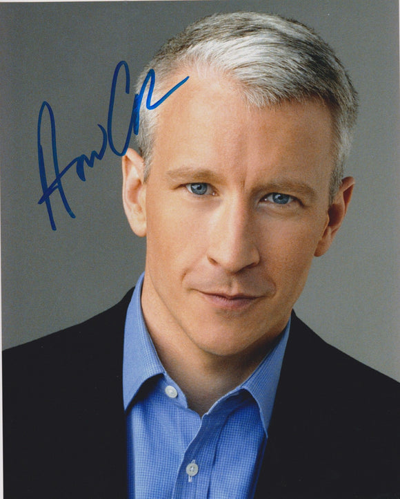 Anderson Cooper Signed Autographed Glossy 8x10 Photo - COA Matching Holograms