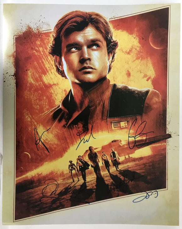 Solo: A Star Wars Story Cast Signed Autographed Glossy 16x20 Photo - COA Matching Holograms