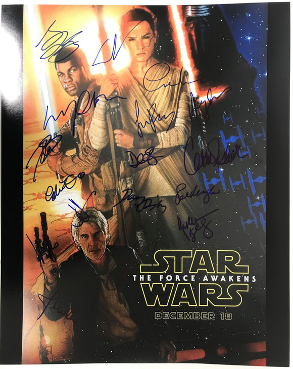 Star Wars The Force Awakens Signed Autographed Glossy 16x20 Photo - COA Matching Holograms