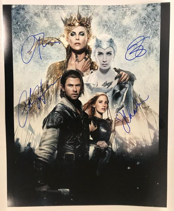 The Huntsman Cast Signed Autographed Glossy 16x20 Photo - COA Matching Holograms