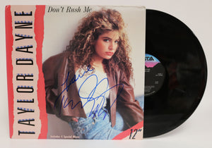 Taylor Dayne Signed Autographed 'Don't Rush Me' Record Album - COA Matching Holograms