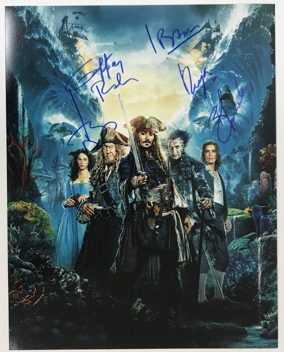 Pirates of the Caribbean Cast Signed Autographed Glossy 11x14 Photo - COA Matching Holograms