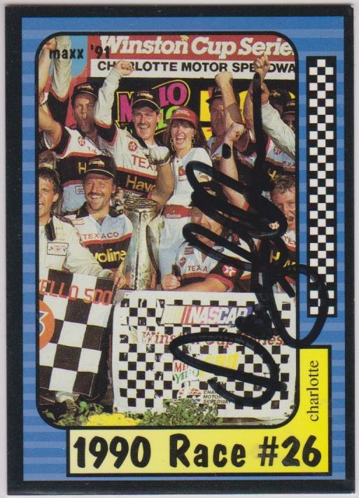 Davey Allison (d. 1993) Signed Autographed 1991 Maxx NASCAR Racing Card - COA Matching Holograms