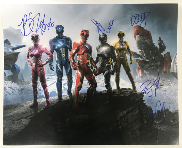 The Power Rangers Cast Signed Autographed Glossy 16x20 Photo - COA Matching Holograms