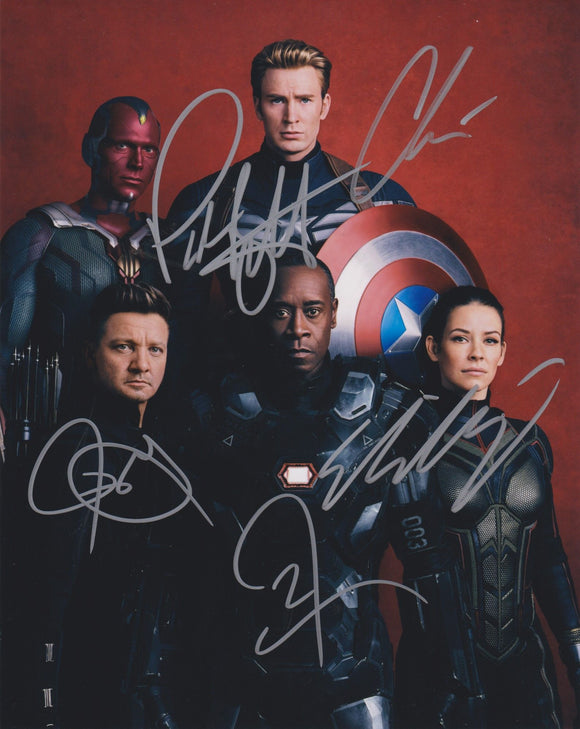 The Cast of The Avengers Signed Autographed Glossy 8x10 Photo - COA Matching Holograms