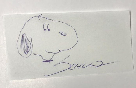 Charles Schulz (d. 2000) Signed Autographed 4