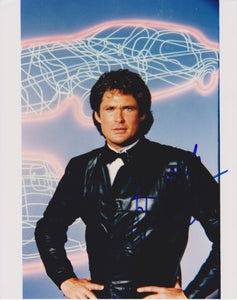 "David Hasselhoff Signed Autographed ""Knight Rider"" Glossy 8x10 Photo - COA Matching Holograms"
