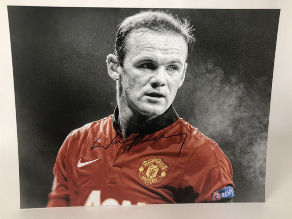 Wayne Rooney Signed Autographed Glossy 11x14 Photo Manchester United - COA Matching Holograms