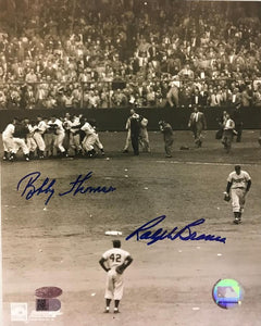 "Bobby Thomson & Ralph Branca Signed Autographed ""Shot Heard Round the World"" Glossy 8x10 Photo - AVI Authenticated"