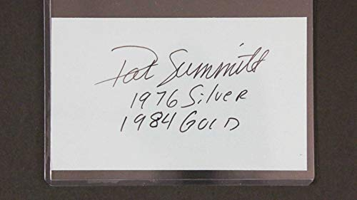 Pat Summitt (d. 2016) Signed Autographed '76 Silver, 84 Gold' Index Card - COA Matching Holograms