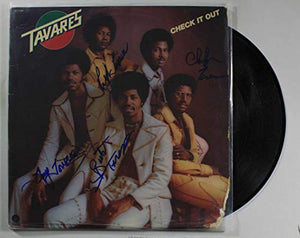 Tavares Band Signed Autographed 'Check it Out' Record Album - COA Matching Holograms