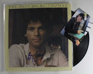 "B.J. Thomas Signed Autographed ""The Best Of"" Record Album - COA Matching Holograms"