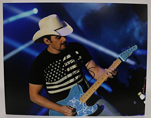Brad Paisley Signed Autographed Glossy 11x14 Photo - COA Matching Holograms