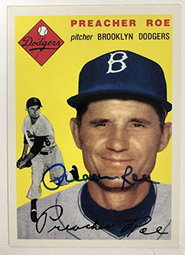 Preacher Roe Signed Autographed 1954 Topps Archives Baseball Card - Brooklyn Dodgers