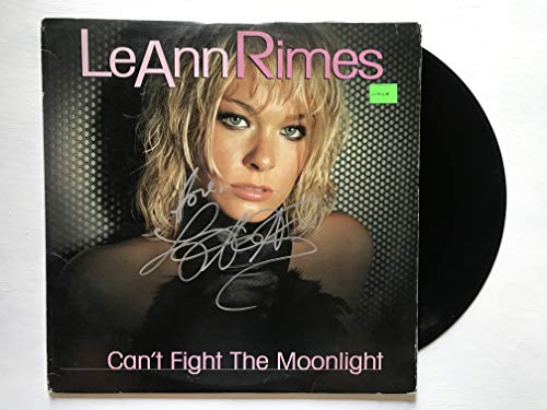 LeAnn Rimes Signed Autographed 'Can't Fight the Moonlight' Record Album - COA Matching Holograms