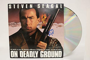 Steven Seagal Signed Autographed 'On Deadly Ground' Laser Disc - COA Matching Holograms