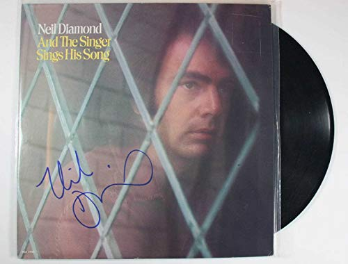 Neil Diamond Signed Autographed 'And the Singer Sings His Songs' Record Album - COA Matching Holograms