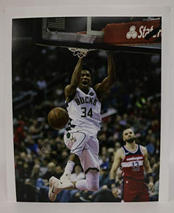 Giannis Antetokounmpo Signed Autographed Glossy 11x14 Photo Milwaukee Bucks - COA Matching Holograms