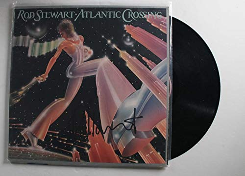 Rod Stewart Signed Autographed 'Atlantic Crossing' Record Album - COA Matching Holograms