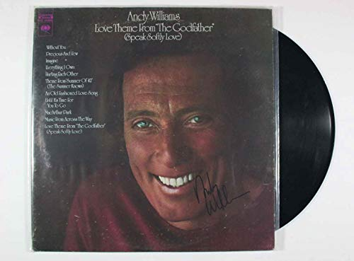 Andy Williams (d. 2012) Signed Autographed 'Theme From the Godfather' Record Album - COA Matching Hologram