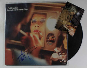 "Patti Austin Signed Autographed ""Live At the Bottom Line"" Record Album - COA Matching Holograms"