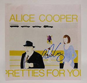 Alice Cooper Signed Autographed 'Pretties For You' 12x12 Promo Photo - COA Matching Holograms