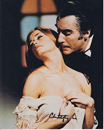 Christopher Lee (d. 2015) Signed Autographed 'Dracula' Glossy 8x10 Photo - COA Matching Holograms